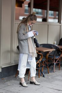 inspiration – layers and rolled up denim