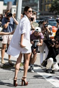 The white shirt dress