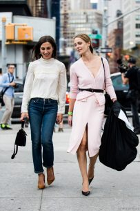 The Traina sisters after Altuzarra