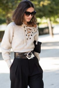 The Isabel Marant lace-up sweater