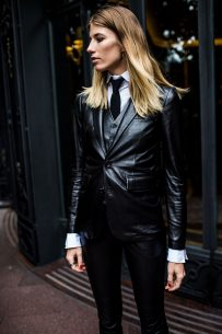 Three piece leather suit – Veronika Heilbrunner